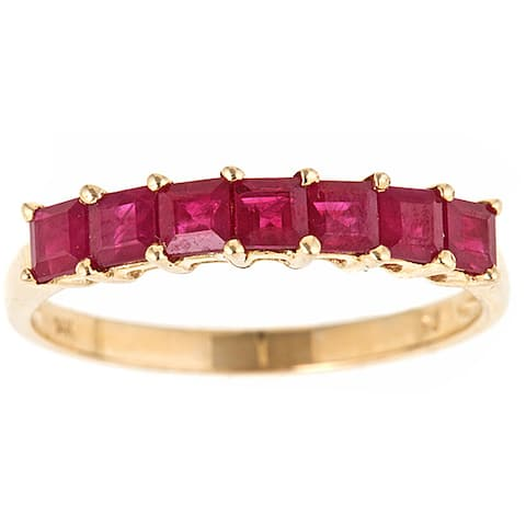 Anika and August 14k Yellow Gold Ruby Classic Ring