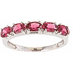 Anika and August 14k White Gold Pink Tourmaline Classic Ring