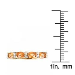 Anika and August 10k Yellow Gold Spessartite and Diamond Accent Ring - Thumbnail 2