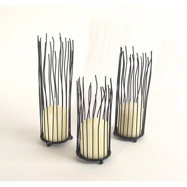 Dayna B. Willow Iron Candleholder 3-piece Set