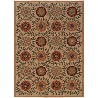 Berkley Beige/Green Area Rug (6'7 x 9'6)