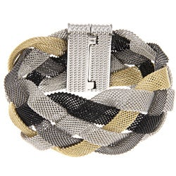 La Preciosa Four-color Braided Mesh Magnet Lock Bracelet