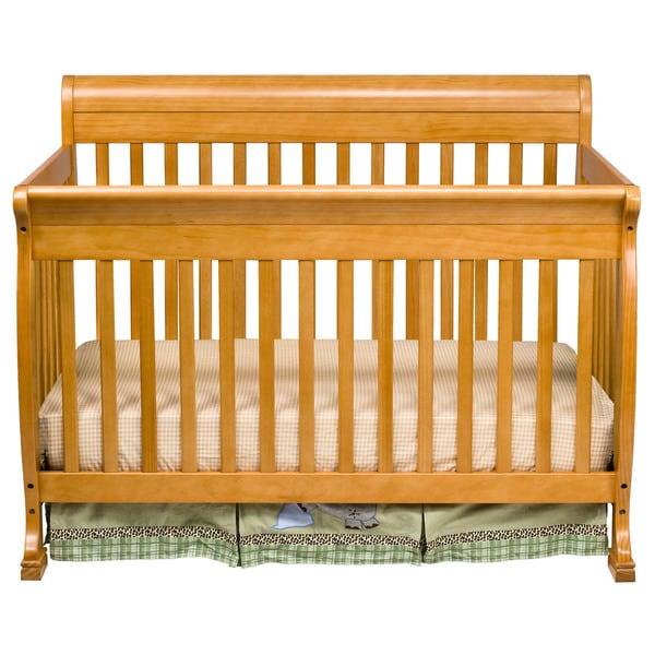 DaVinci Kalani 4-in-1 Crib with Toddler Rail in Honey Oak