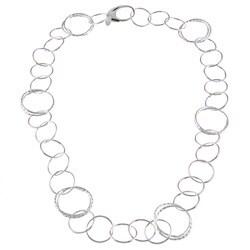 La Preciosa Sterling Silver Circle Link Necklace