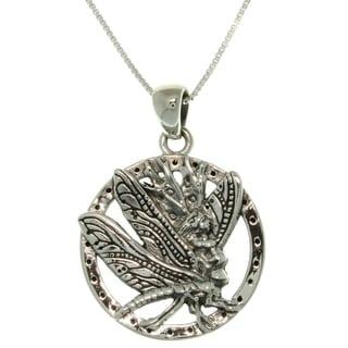Silver Jody Bergsma Dragonfly Fairy Necklace
