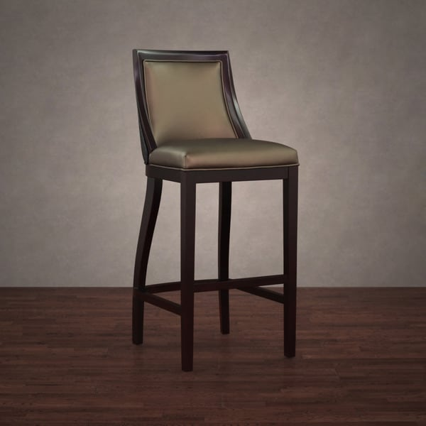 Park Avenue Black Croco and Bronze Leather Barstool