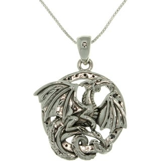 Silver Jody Bergsma Dragon Necklace