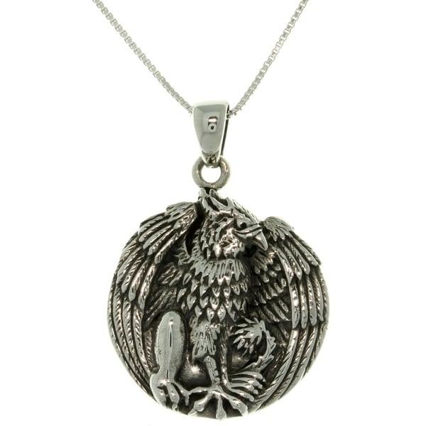 Silver Jody Bergsma Gryphon Necklace