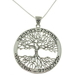 Carolina Glamour Collection Sterling Silver Tree of Life Necklace