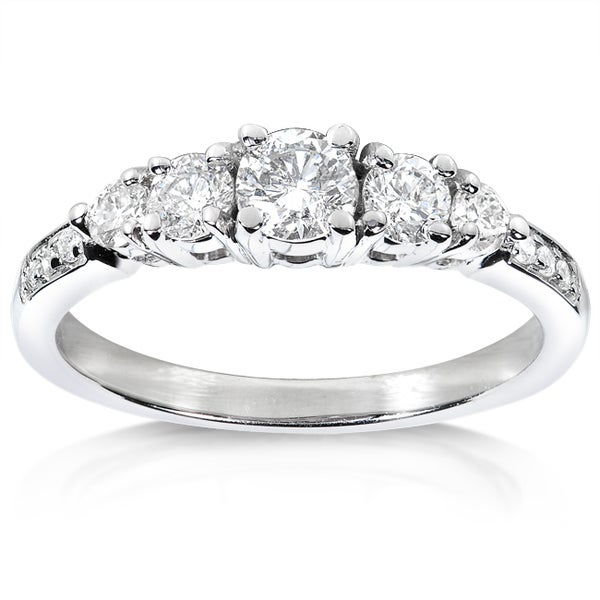 Annello by Kobelli 14k White Gold 3/5ct TDW Diamond Engagement Ring (H-I, I1-I2)