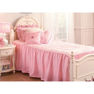 Pink princess twin size 3 piece comforter set free shipping today 13855990 - Twin size princess bed set ...