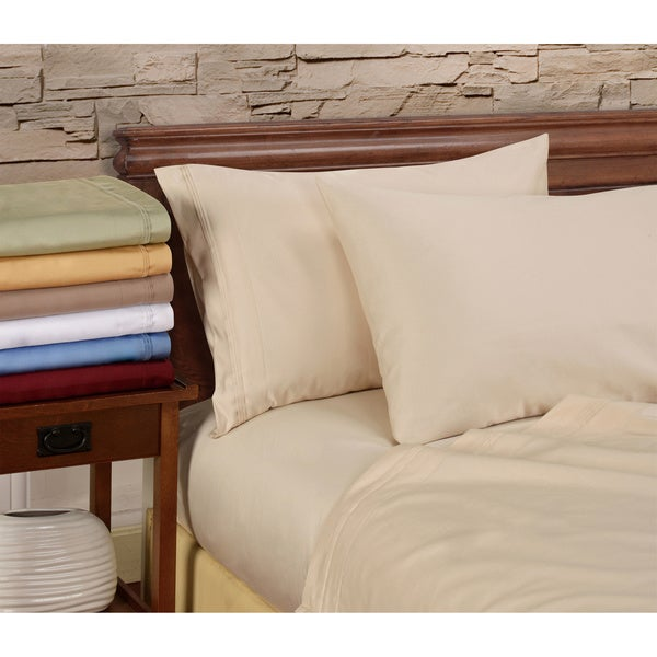 Superior Cotton 1000 Thread Count Solid Deep Pocket 4-piece Sheet Set
