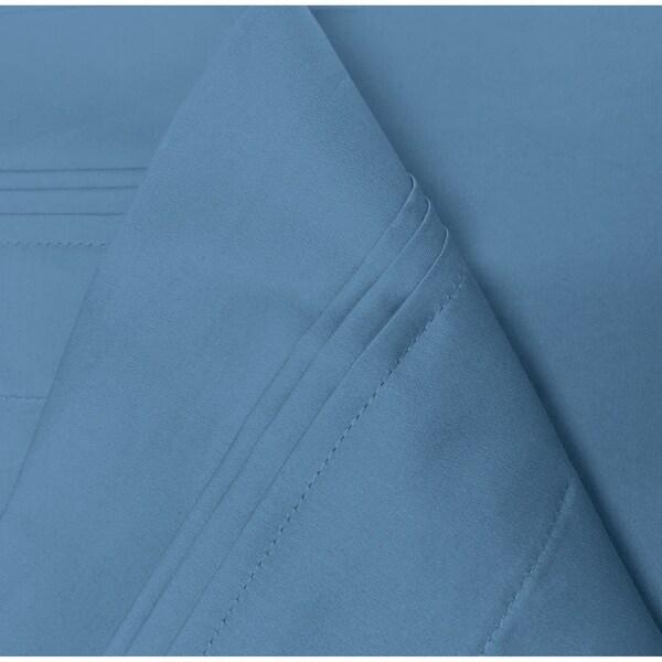 1000TC EGYPTIAN BLUE SOLID COTTON SUPER DEEP POCKET FITTED SHEET /& SHEET SET