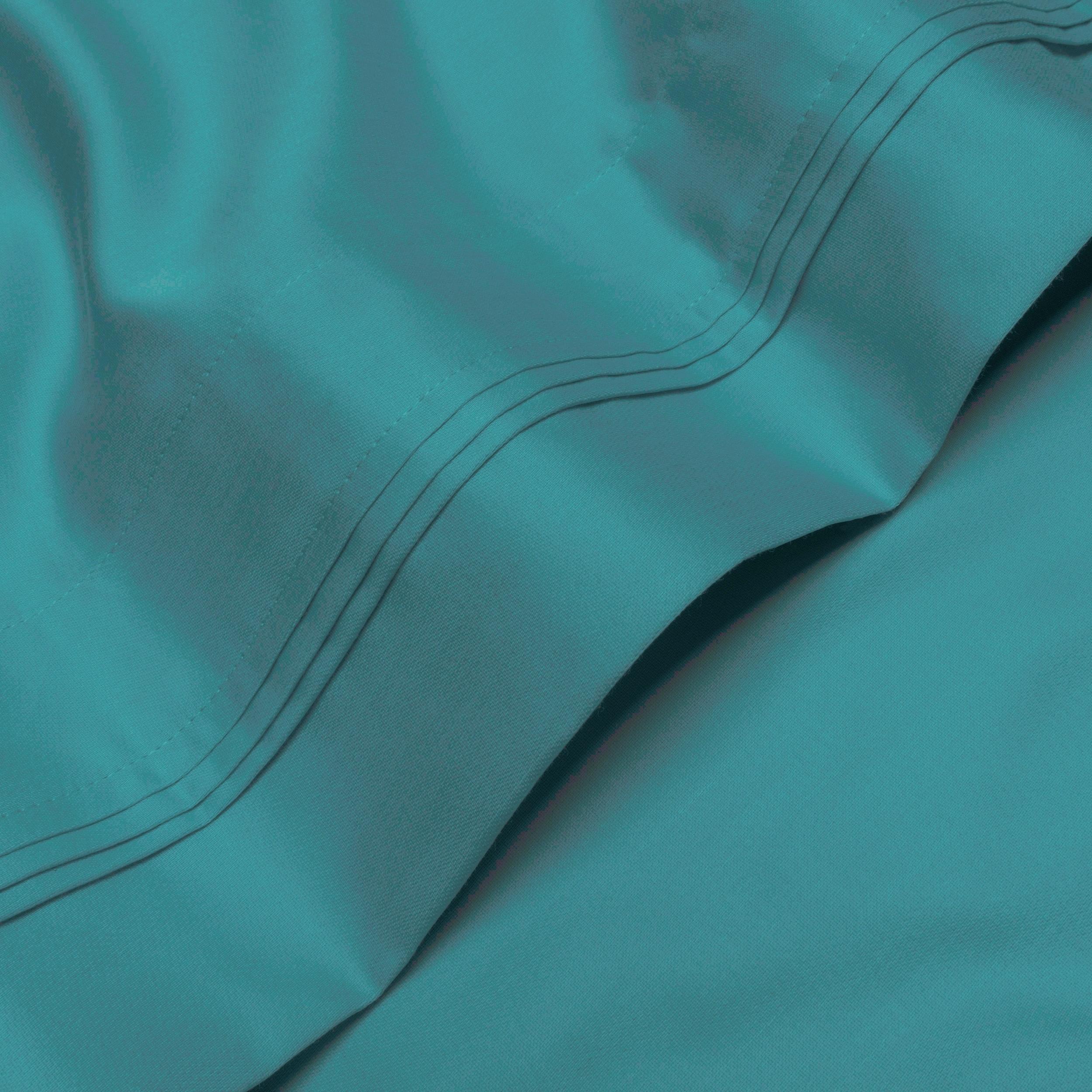 Extra Pocket 5 Piece Split Sheet set 1000TC Pima Cotton All Size Turquoise Solid