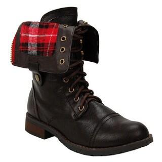 Sweet Beauty Women's 'Terra-01' Lace-up Combat Boots