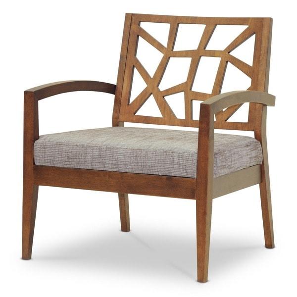 Baxton Studio Jennifer Modern Lounge Chair with 'Gravel' Fabric Seat