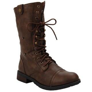 Sweet Beauty Women's 'Terra-01' Mid-calf Tan Boots