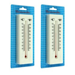 Outdoor/ Indoor Thermometer Hide-A-Key Set (Pack of 2)