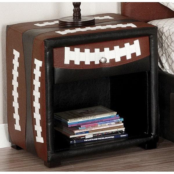 Furniture of America Football-themed Designed Nightstand