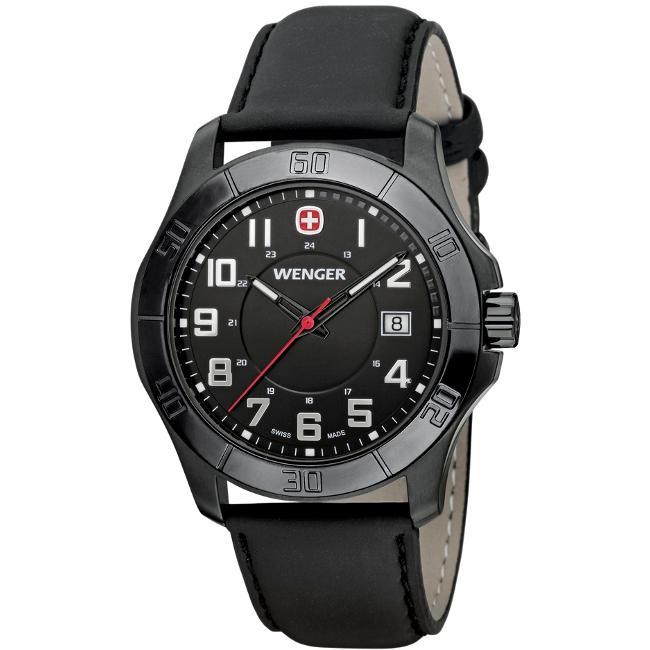 Wenger Men's 'Alpine' Black Stainless Steel Watch