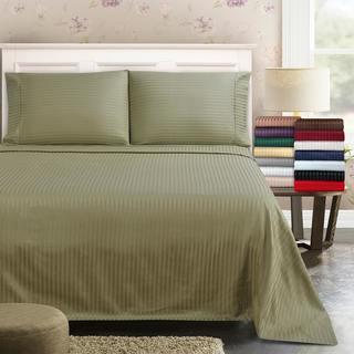 Superior 300 Thread Count Deep Pocket Stripe Cotton Sateen Sheet Set
