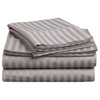 Superior 300 Thread Count King and California King Stripe Cotton Sheet Set