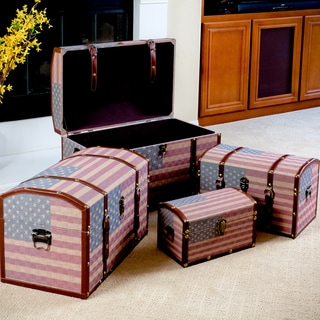 US Flag-themed Storage Cases (Set of 4) by Christopher Knight Home