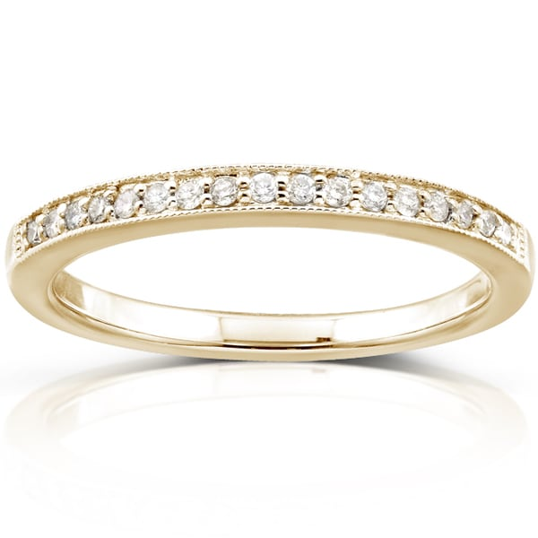 Annello 14k Yellow Gold 1/10ct TDW Diamond Wedding Band (H-I, I1-I2)