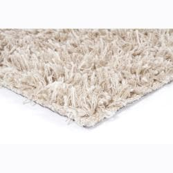 Handwoven 1.5-Inch Mandara New Zealand Wool Shag Rug (7'9 x 10'6) - Thumbnail 1