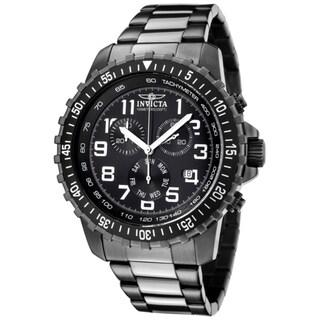 Invicta Men's 'Invicta II' Chronograph Gunmetal Ion Plated SS Watch
