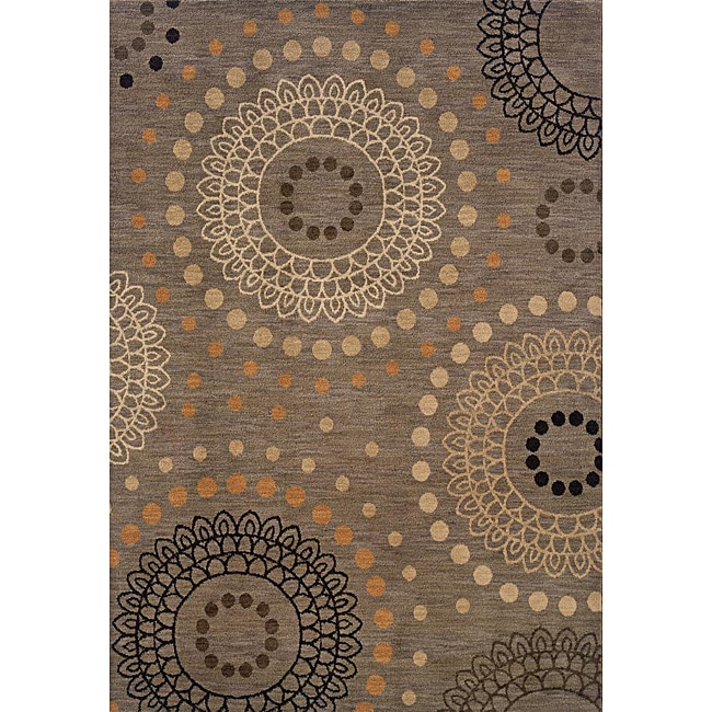 Messina Grey/Beige Area Rug (5'3 x 7'6)