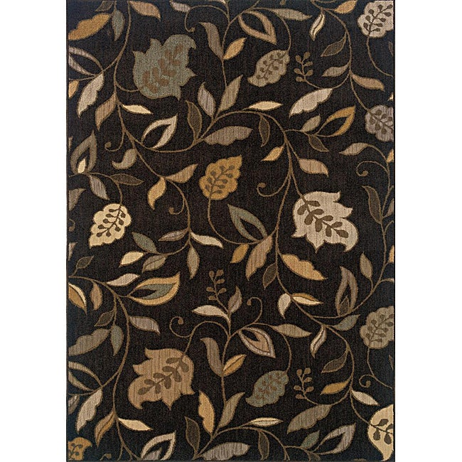 Messina Brown/Ivory Area Rug (5'3 x 7'6)