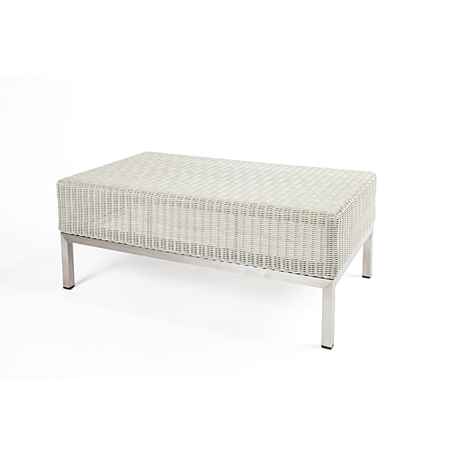 Stockholm Deluxe White Patio Coffee Table