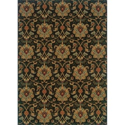 Berkley Green/ Beige Traditional Area Rug (6'7 x 9'6) - Thumbnail 0