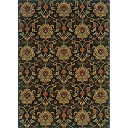 Berkley Green/ Beige Traditional Area Rug (3'10 x 5'5)