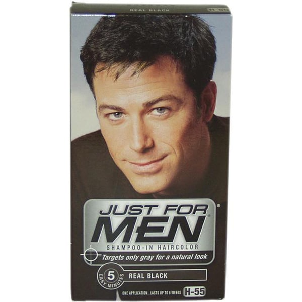 Just For Men Shampoo In Hair Color Real Black H 55 Shampoo Free