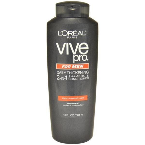 L'Oreal Vive Pro Men's 13-ounce Daily Thickening 2-in-1 Hair Shampoo and Conditioner