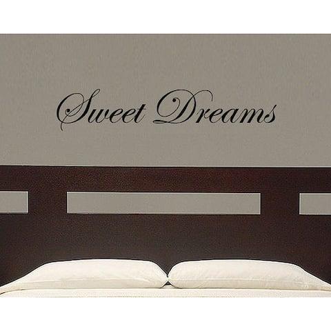 Vinyl 'Sweet Dreams' Wall Decal