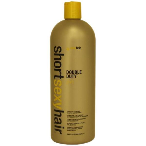 Short Sexy Hair Double Duty by Sexy Hair 33.8-ounce Shampoo and Conditioner