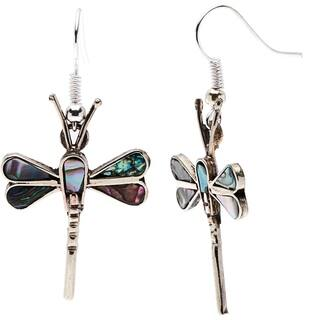 Handmade Silver Mother of Pearl Dragonfly Earrings (Mexico)|https://ak1.ostkcdn.com/images/products/6212051/P13858220.jpg?impolicy=medium