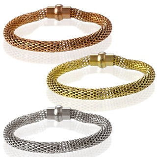La Preciosa Stainless Steel High-polished Hollow-mesh Bracelet