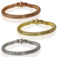 La Preciosa Stainless Steel High-polished Hollow-mesh Bracelet