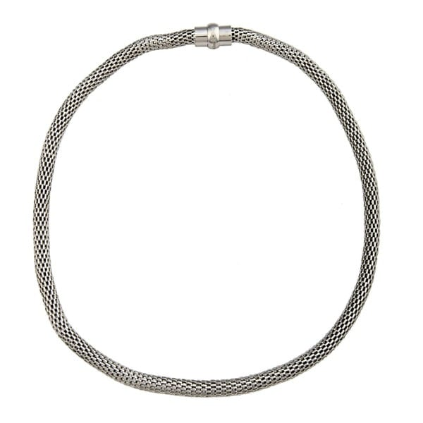 La Preciosa Stainless Steel Hollow Mesh Necklace