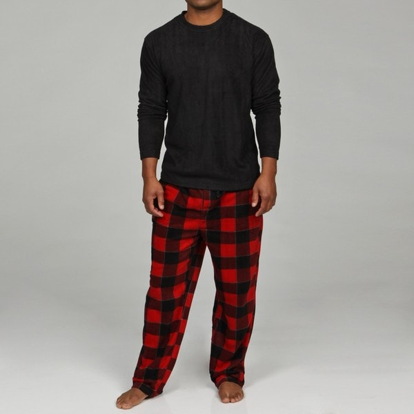 Perry Ellis Men's Fleece Pajama Set - Free Shipping On Orders Over ...