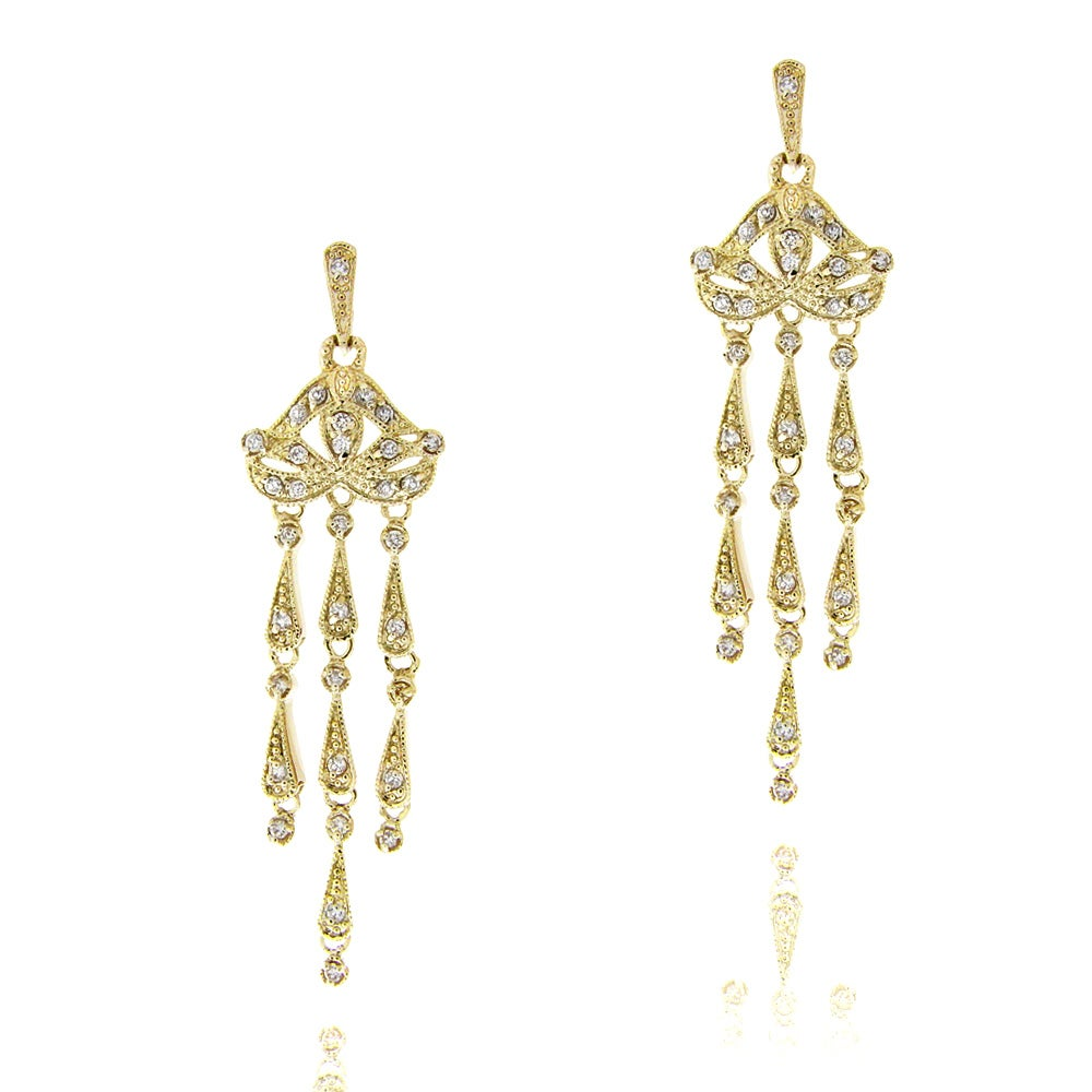 Icz stonez goldplated cubic zirconia chandelier earrings free icz stonez goldplated cubic zirconia chandelier earrings arubaitofo Images