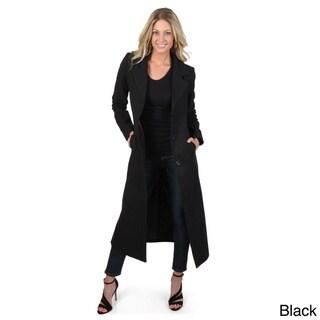 Adi Designs Junior's Full Length Wool Blend Coat