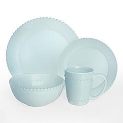American Atelier Bianca Bead Azul 16-pc Dinnerware Set