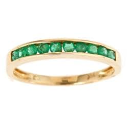 Anika and August 14k Yellow Gold Emerald Classic Ring