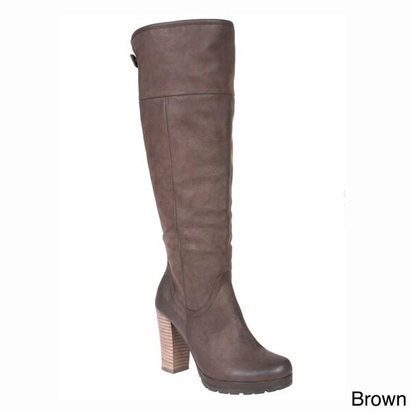 Story Jone Women's Round Toe Knee High Boots