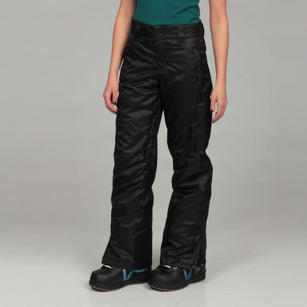 Gravity Women's 'Bernice' Black Insulated Cargo Pants - Free ...